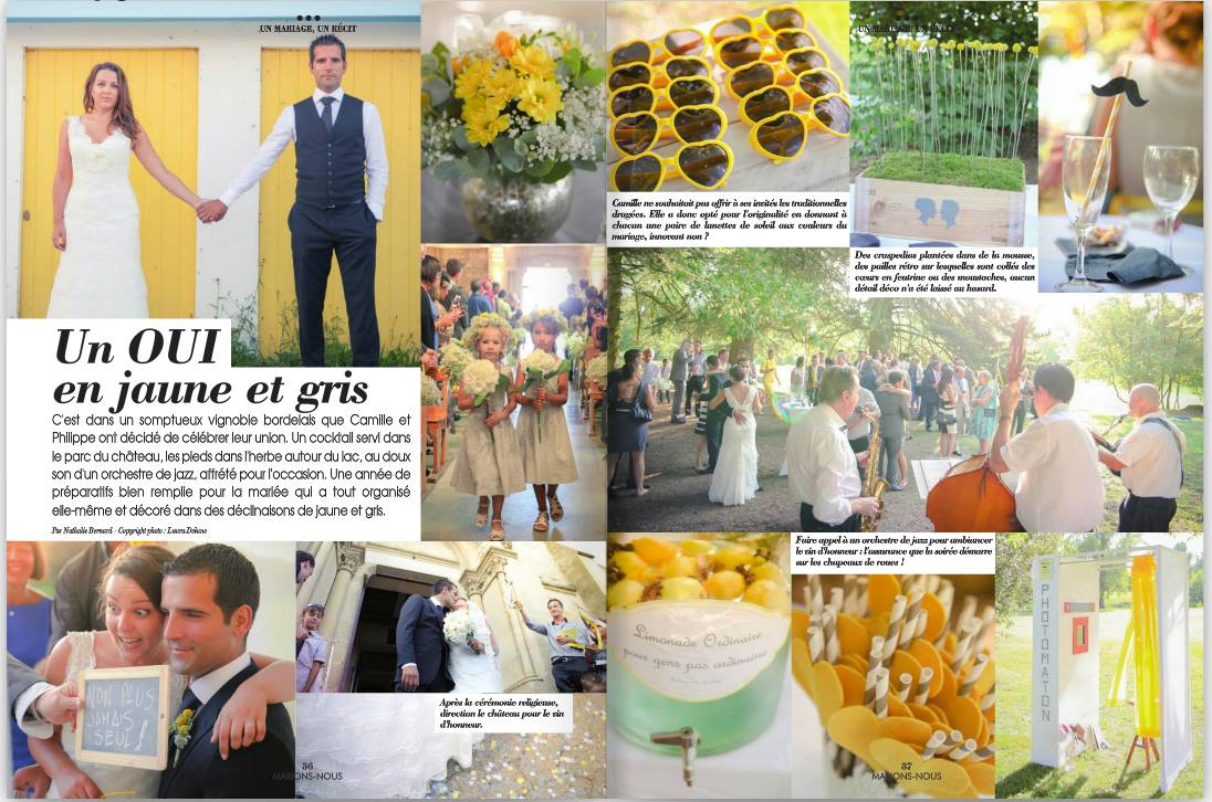 Publications de mes photographies de mariage